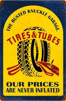 """Tires & Lubes Vintage 24"""" by 16"""" Metal Sign"""