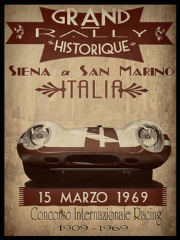 Grand Rally Italia Metal Sign
