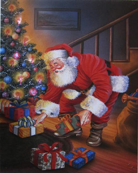 Santa Gifts Under the Tree LED Canvas