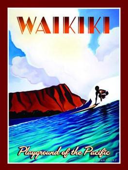 Waikiki-Playground of the Pacific Metal Sign