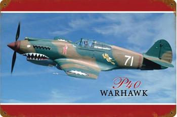 P40 Warhawk Vintage Metal Sign