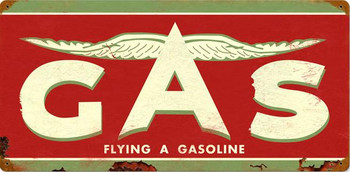 """Flying A Gasoline 24"""" by 14"""""""