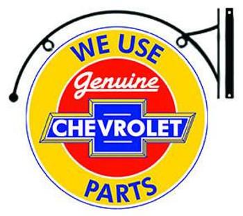 "Genuine Chevrolet Parts Hanging 18"""