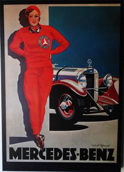 "The ""Frau in Rot"" (1928) Laminated Art"