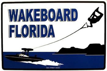 Wakeboard Florida Aluminum Sign