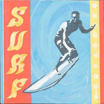 Surf Metal Sign