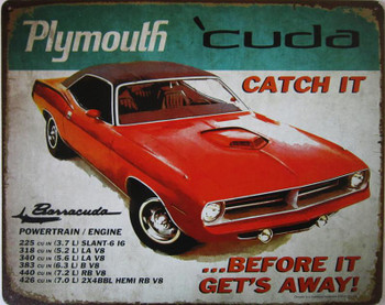 Plymouth 'Cuda Metal Sign