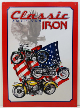 American Classic Iron Metal Sign