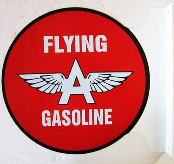 """Flying A Service Flange Sign 12"""""""