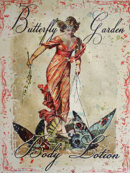 Butterfly Garden Metal Sign