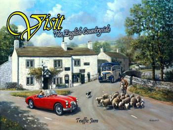 Visit The English Countryside Metal Sign