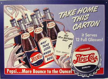 Take Home This Carton Pepsi Cola
