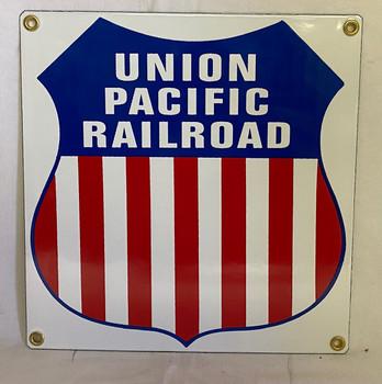 Union Pacific Railroad Porcelain Sign