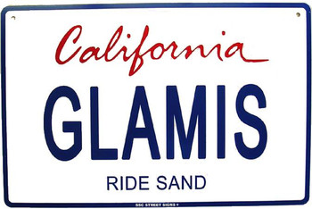 Glamis California Ride Sand License Plate