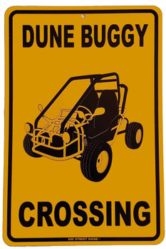 Dune Buggy Crossing Metal Sign