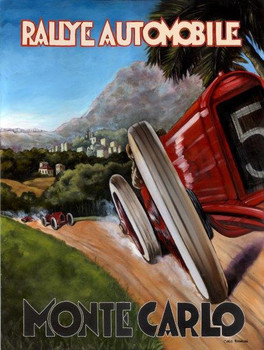 Rallye Automobile / Monte Carlo Metal Sign