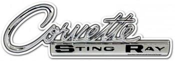 Corvette Sting Ray (logo) Plasma-Cut Metal Sign