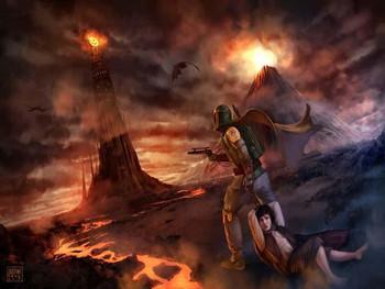Boba Fett and Frodo's journey to Mount Doom