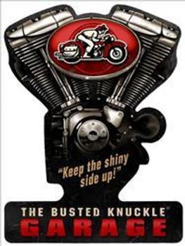Vintage V-Twin Motorcycle Plasma Cut Metal Sign