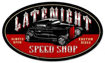 Late Night Speed Shop (oval)