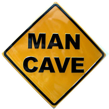 Man Cave Embossed Metal Sign 1