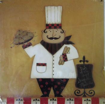 Chef Metal Sign