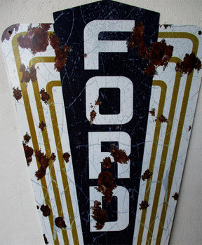 "Ford Jubilee 44"" Plasma Cut Metal Sign"