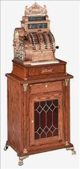 Deluxe Modern Stand w/ Red Leaded Glass (Wide Body
