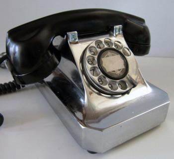 Stromberg Carlson Chrome Telephone 1940's