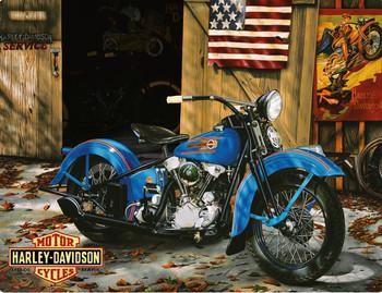 At Your Service Harley-Davidson Metal Sign