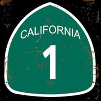 CA Highway 1 Metal Sign