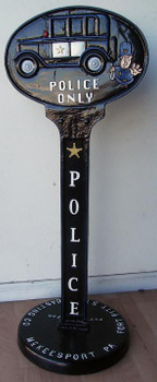 """Police Parking ( cast Metal 47"""" tall by 16"""" diameter base)"""