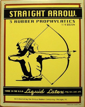 Straight Arrow Rustic Metal Sign