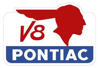 """V-8 Pontiac Sign 34"""""""