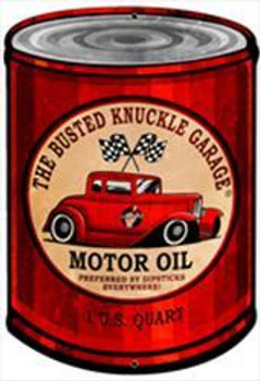 """Busted Knuckle Motor Oil Can ( 20"""" by 14"""")"""