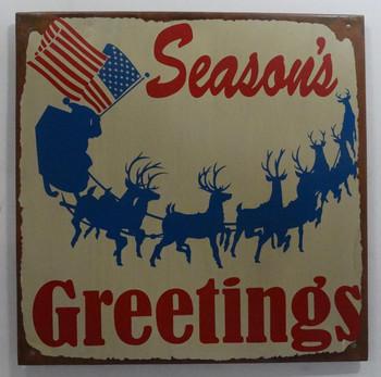 "Season's Greetings Holiday 10"" Square"