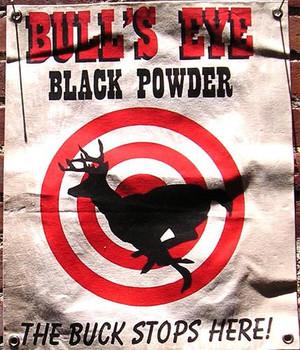 Bull's Eye Black Powder Canvas