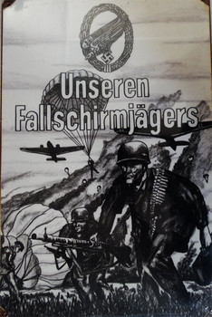 Unseren Fallschirmjagers Vintage Metal Sign