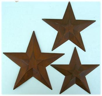 Stars-die cut embossed  (set of 3)