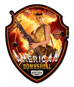 American Bombshell Plasma Cut  Metal Sign