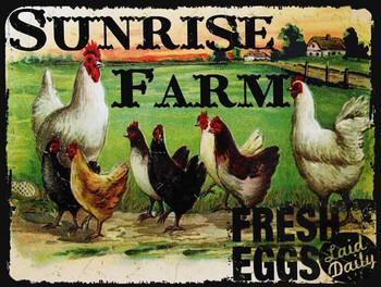 Sunrise Farm Metal Sign