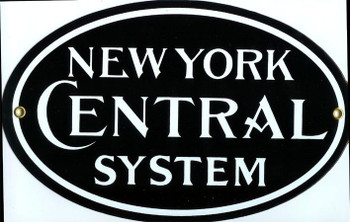 New York Central System Porcelain Sign
