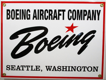 Boeing Aircraft Company Porcelain Sign