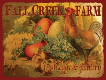 Fall Creek Farm Metal Sign