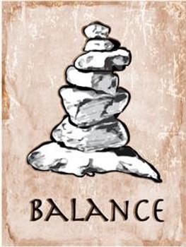 Balance Metal Sign