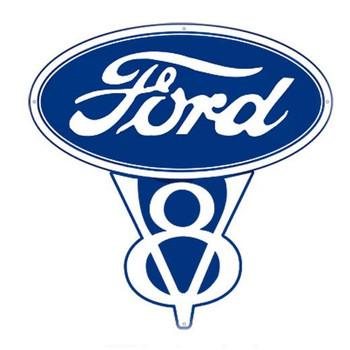 "Ford V8 15"" Plasma Cut Metal Sign"