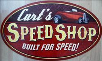 Curt's Speed Shop (oval)