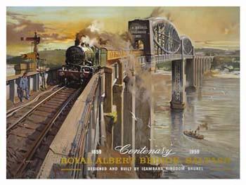 Royal Albert Bridge Saltash Metal Sign