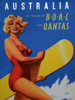 Australia BOAC Qantas Metal Sign Metal Sign