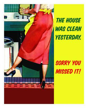 Clean House Metal Sign